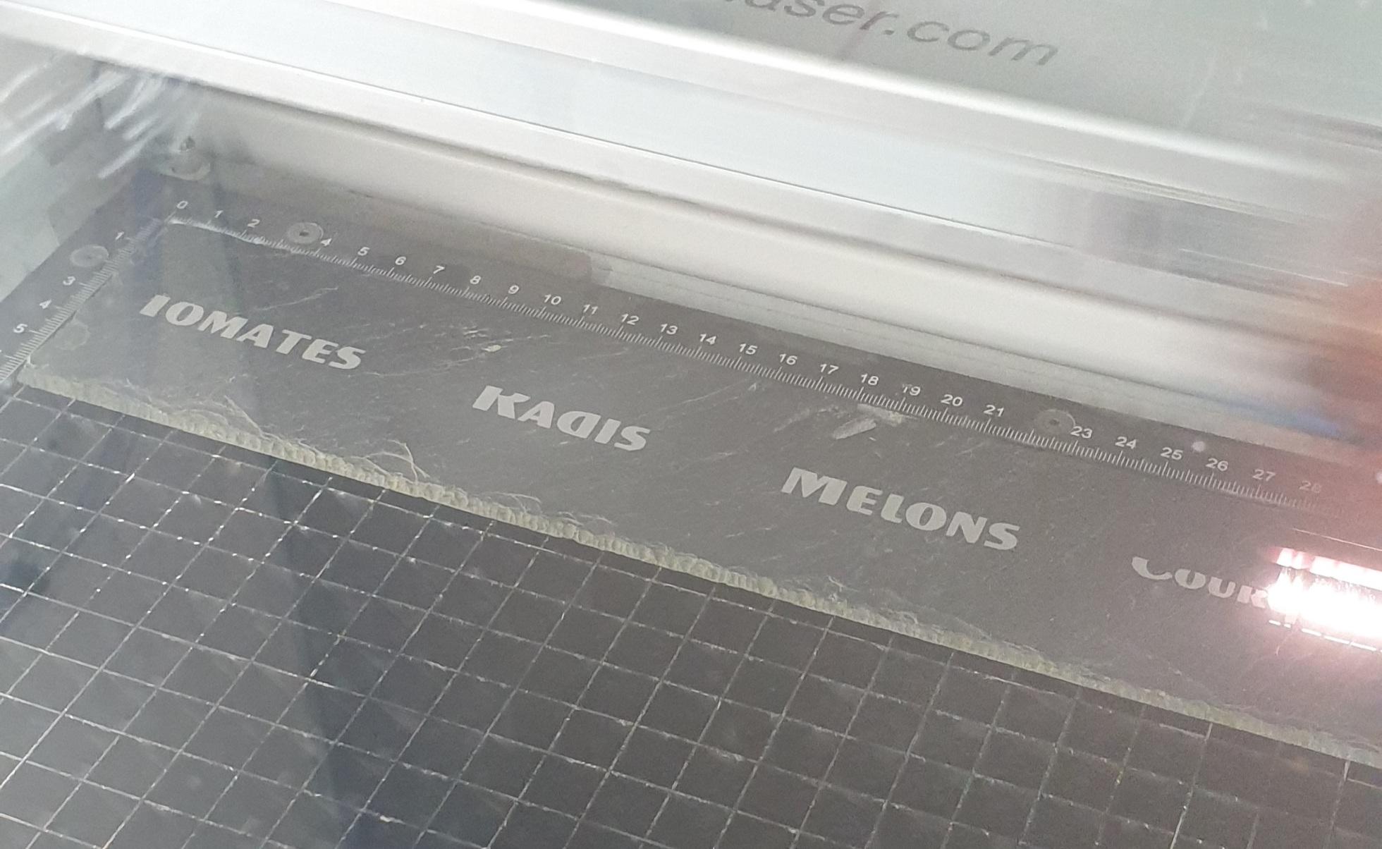 marquage laser sur ardoise